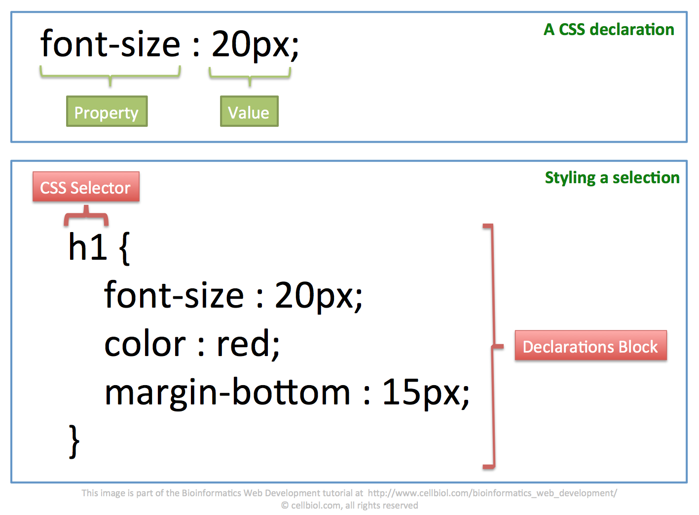 how to change h1 color in css